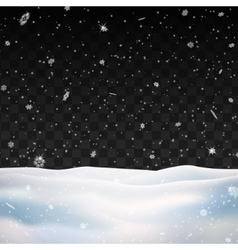 Snow on transparent background Winter snowfall vector image vector image