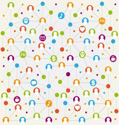 Social network internet chat community comm vector image
