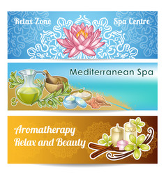 spa salon banner set vector image