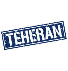 teheran blue square stamp vector image