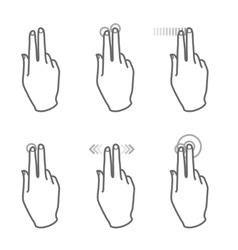 touchscreen gesture vector image
