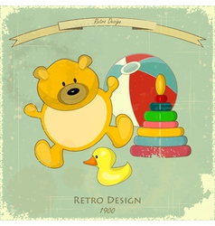 Vintage Design Baby Card vector image vector image