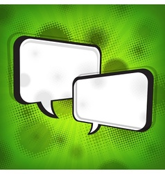 White speech bubbles on green vector