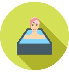 Hot water bath vector
