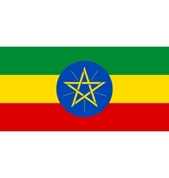 Flag of Ethiopia in correct proportions and colors vector image