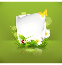 Spring frame green vector