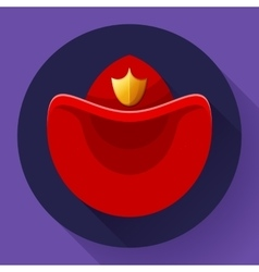 Firefighters hat symbol icon for video vector