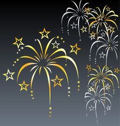Stylized fireworks vector