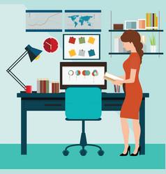 Businessman working in working in office vector