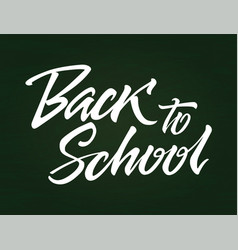 Back to school - drawn brush pen lettering vector
