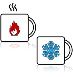 Hot and cold beverages vector