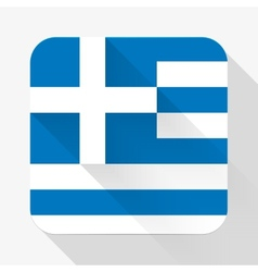 Simple flat icon greece flag vector
