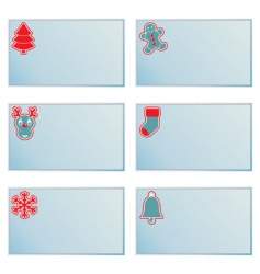 Christmas note cards vector image