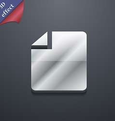 Text file icon symbol 3d style trendy modern vector