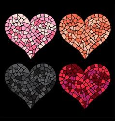 4 hearts vector image