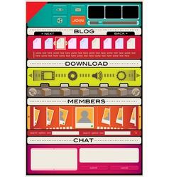 web design interface template vector image