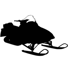 snowmobile silhouette vector image
