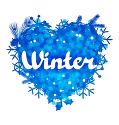 Winter abstract background design with snowflakes vector