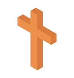 Cristian cross isometric 3d icon vector