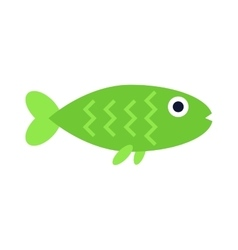 Green aquatic fish wildlife aquarium underwater vector