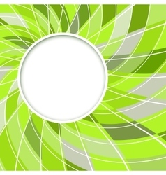 Abstract white round shape vector image vector image
