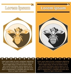 Bee logo on flyers vector