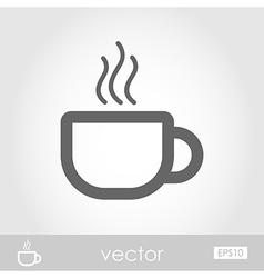 Cap of tea or coffee vector