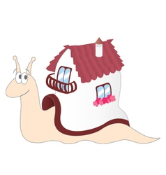 Cartoon Snail with a House on its Back vector image