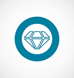 Diamond icon bold blue circle border vector