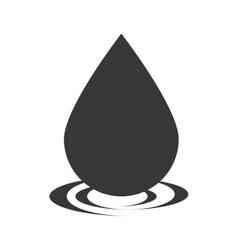 Drop oil black vector