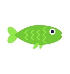 Green aquatic fish wildlife aquarium underwater vector