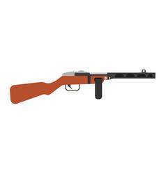 gungster gun cartoon mafia man weapon hat crime vector image