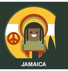 Jamaican Man in Bright Clothes vector image