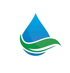 Leaf water drop logo image vector