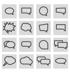 line speech bubbles icons set vector image