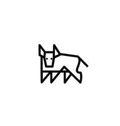 linear stylized drawing of bull ox or cow vector image