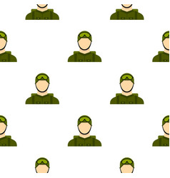 Military paratrooper pattern flat vector