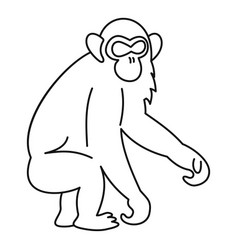 Monkey icon outline style vector