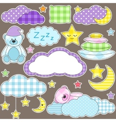 night stickers vector image