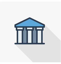 public bank building university or museum vector image vector image