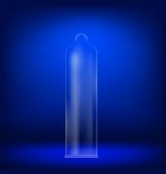 realistic rubber condom vector image