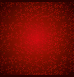 red snowflake winter decoration seamless christmas vector image