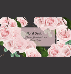 roses delicate card background vector image vector image
