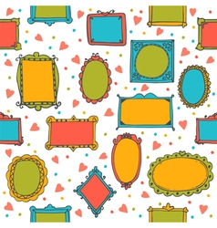 Seamless pattern with hand drawn sketchy doodle vector