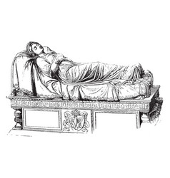 Tomb of queen louise sculpture was made by rauch vector