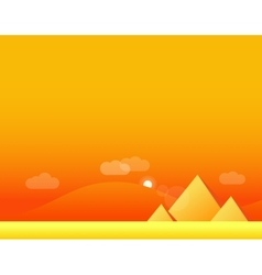 Wallpaper landscape of desert and pyramids vector
