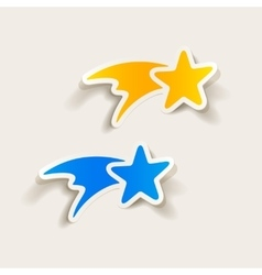 Realistic design element christmas star vector