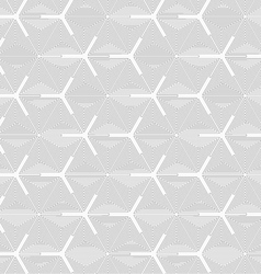Slim gray triangle spirals forming texture vector image