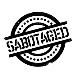 Sabotaged rubber stamp vector