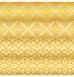 Seamless golden floral paterns vector